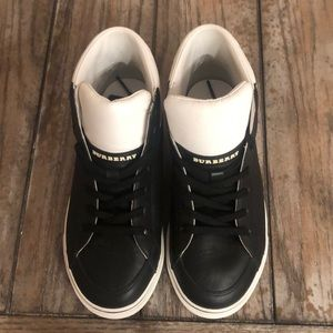 Burberry high top trainers